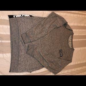 PINK pullover hoodie side zipper